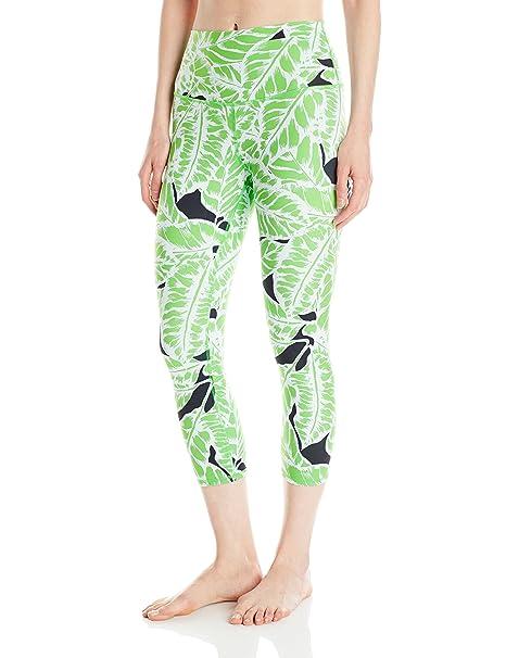 ad010de7a6 Alo Yoga Women's High Waist Airbrush Capri Printed, Palm Springs Glow  Stick, X-