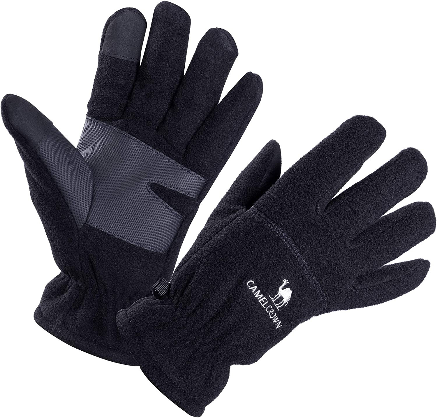 CAMEL CROWN Winter Gloves Touch Screen Anti-Slip Gloves Windproof Warm for Driving Cycling Running