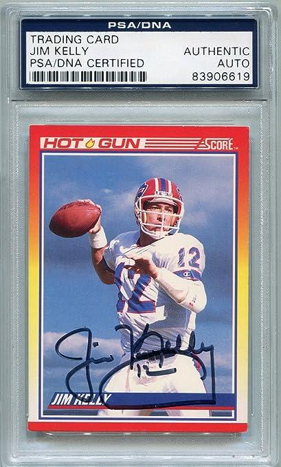 9fea43abb68 Jim Kelly Buffalo Bills PSA DNA Certified Authentic Autograph - 1990 Score (Autographed  Football
