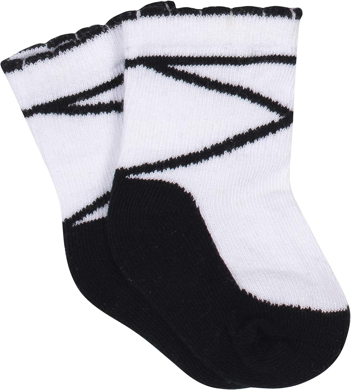 Gerber Baby Girls 8-Pack Wiggle Proof Jersey Crew Socks