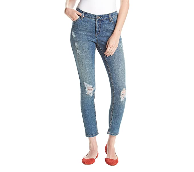 d87ab771184 Ruff Hewn Petites  Rip Repair Skinny Jeans 10P at Amazon Women s ...