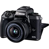 Canon EOS M5 Mirrorless DSLR with EF-M 15-45mm F3.5-6.3 IS STM lens Kit - 24.2 MP, Black