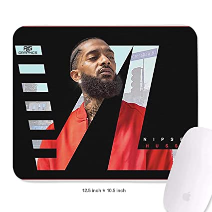 Amazon com : Game Custom Mouse Pad Cartoon Nipsey-Hussle