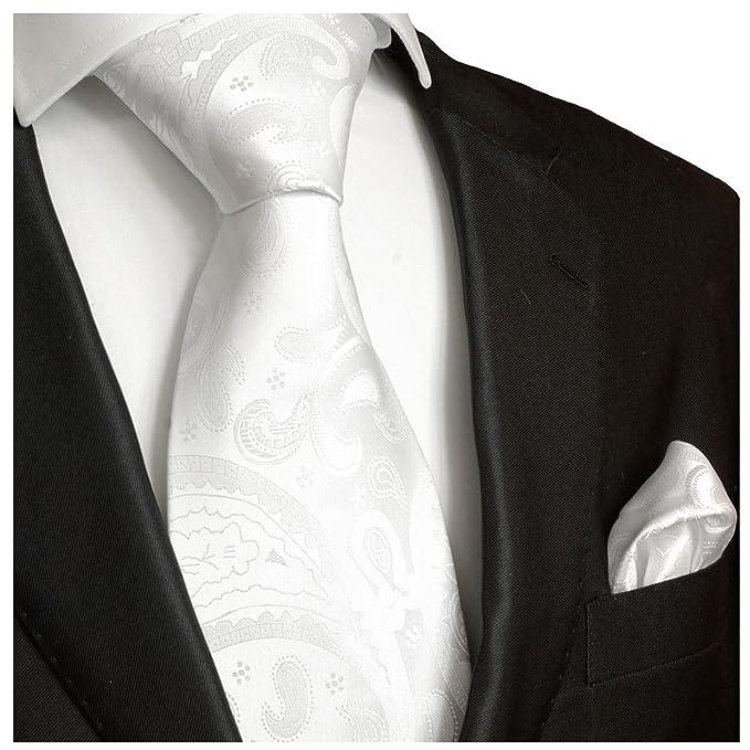 Paul Malone - Corbata de boda - Paisley - Hombre blanco blanco ...