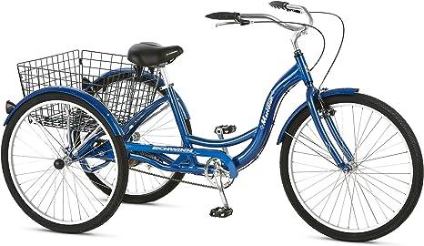 Schwinn Meridian Adult Trike, Three Wheel Cruiser Bike, Multiple Speeds, 26-Inch Wheels, Cargo Basket