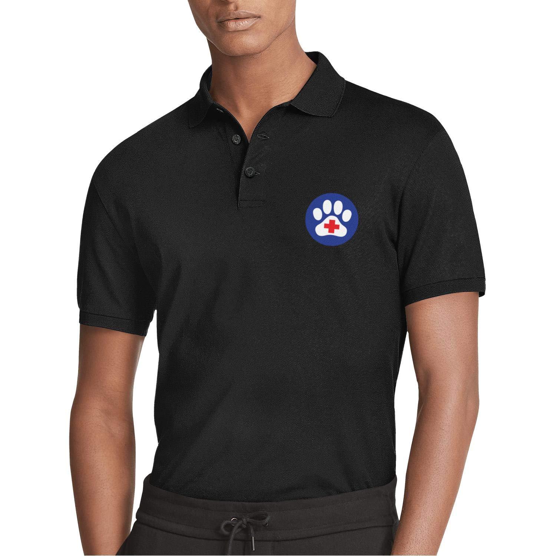 WENL Animal Hospital Bear Mens Summer Casual Polo Shirt