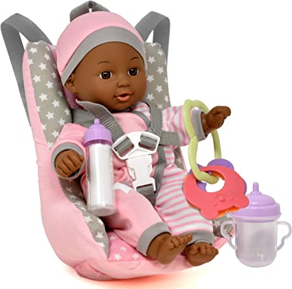 New B.. Doll Car Seat and Booster with Seatbelt for Dolls and Stuffed Animals