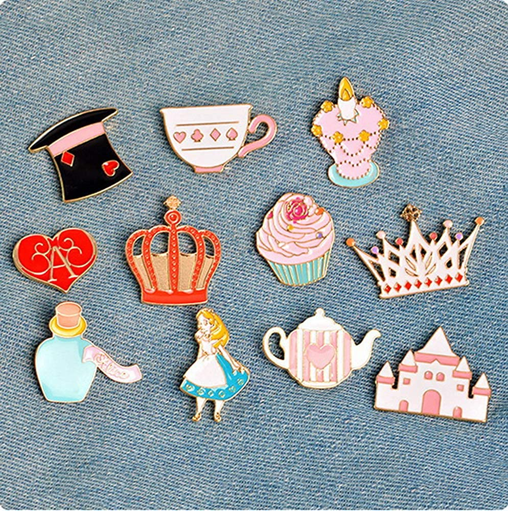 3 Fashion Men And Women Clothes Pants Bags Elegant Brooches Pink Teapot