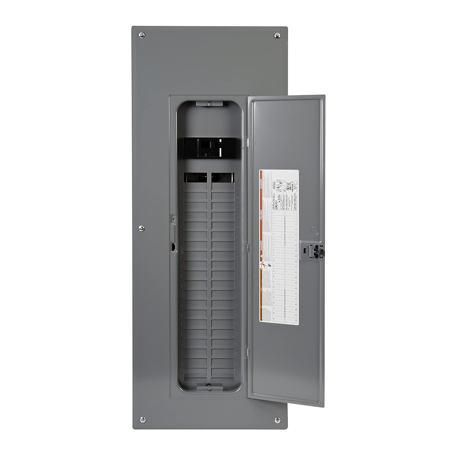 Square d by schneider electric hom4284m225pc homeline 225 amp 42 square d by schneider electric hom4284m225pc homeline 225 amp 42 space 84 circuit indoor main breaker load center with cover plug on neutral ready greentooth Images