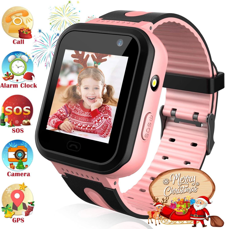 Reloj Inteligente Resistente al Agua para niños con rastreador de GPS - Reloj Impermeable Impermeable para Hombres y Mujeres Cámara IP67 Juego móvil Reloj Deportivo Suministros