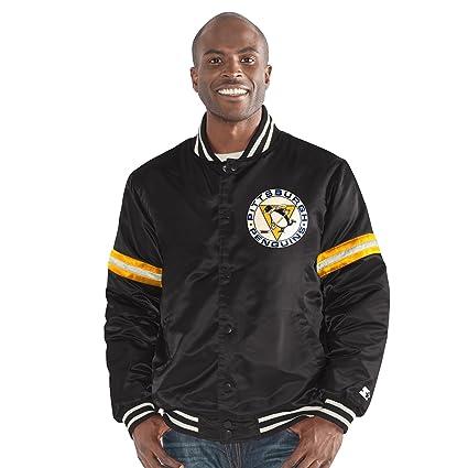 Amazon.com   STARTER NHL Men s Legecy Retro Satin Jacket   Sports ... 4c8b169d8