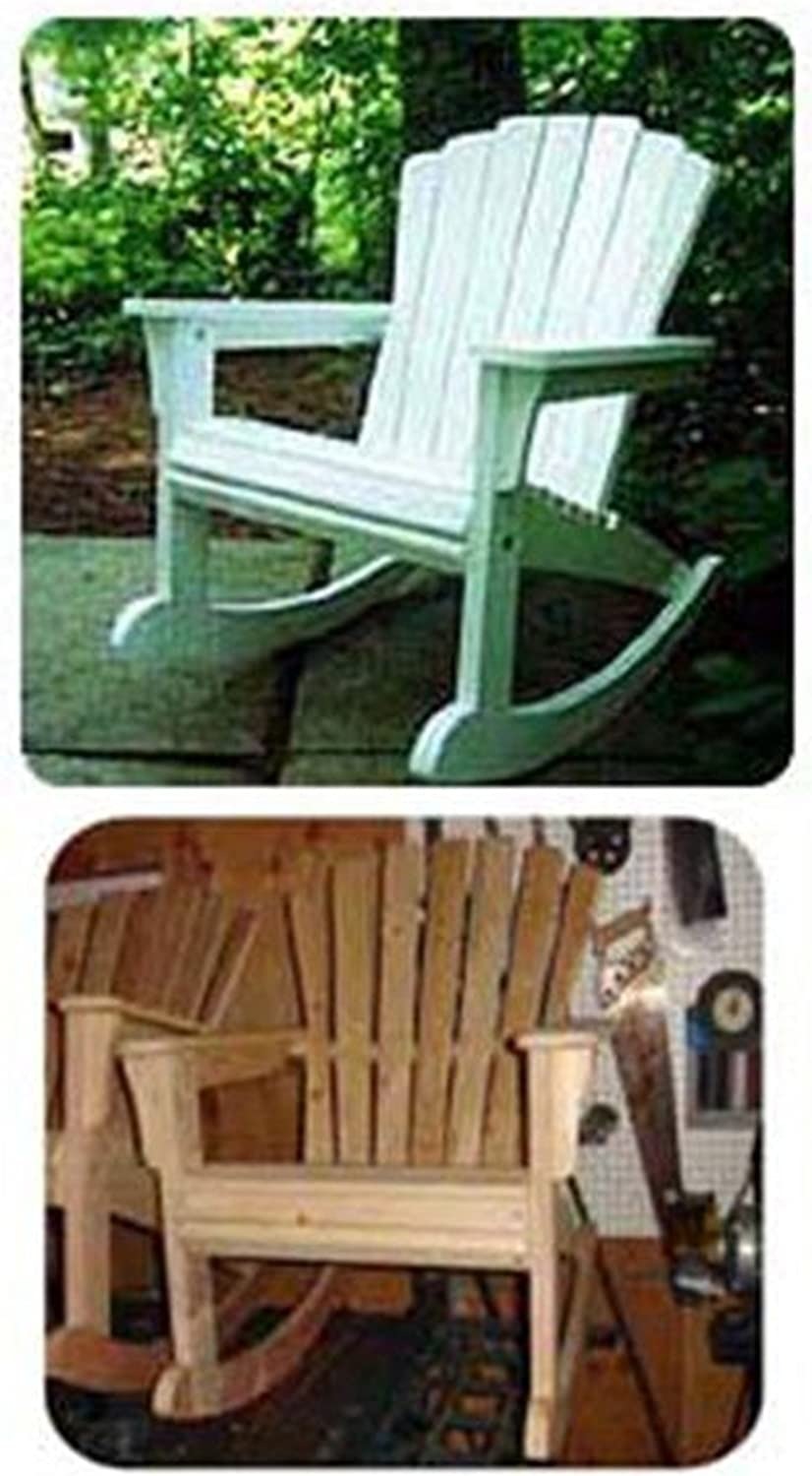 Woodworking Project Paper Plan to Build Rocking Adirondack Chair - Outdoor Furniture Woodworking Project Plans -