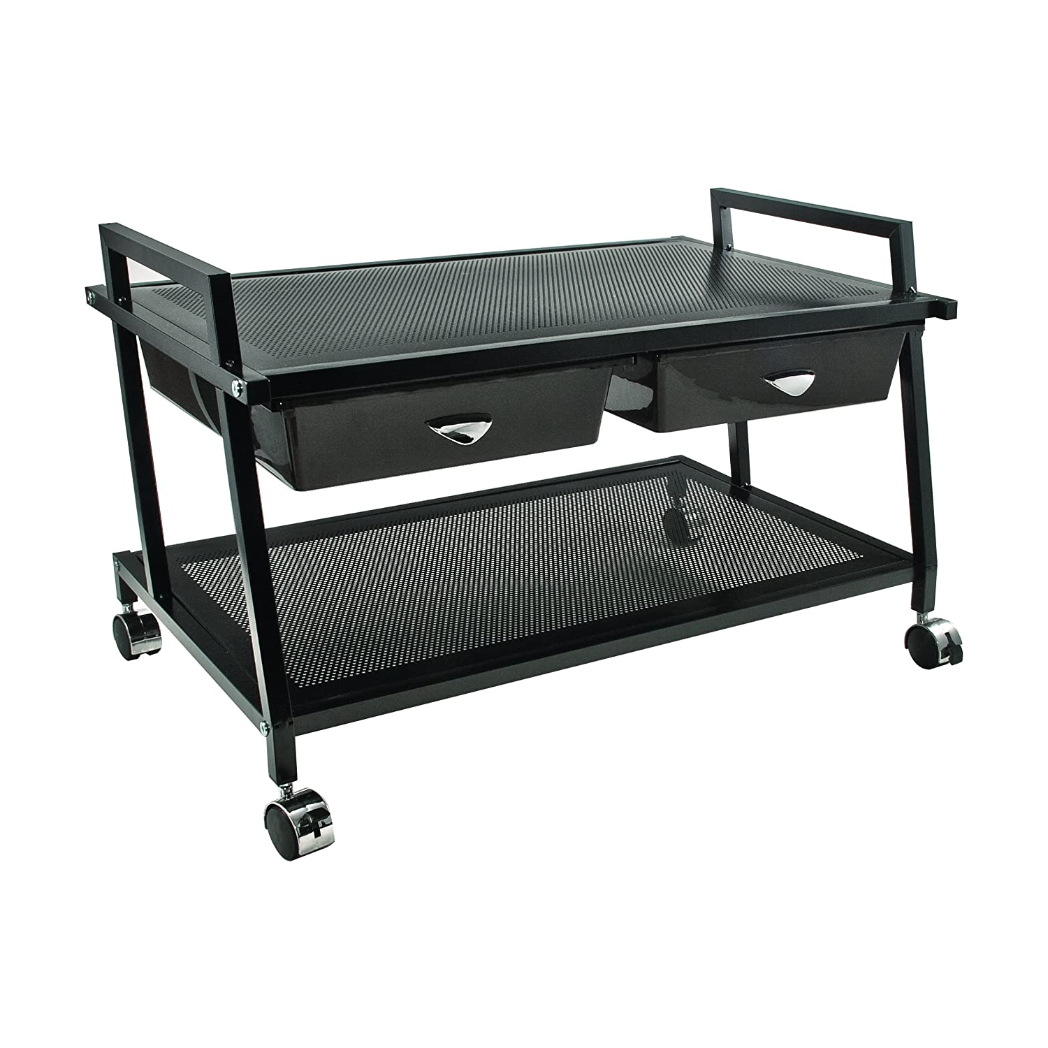 Vertiflex Mobile Underdesk Machine Stand with Supply Drawers, 25x15x15-Inch, Black, VF95530