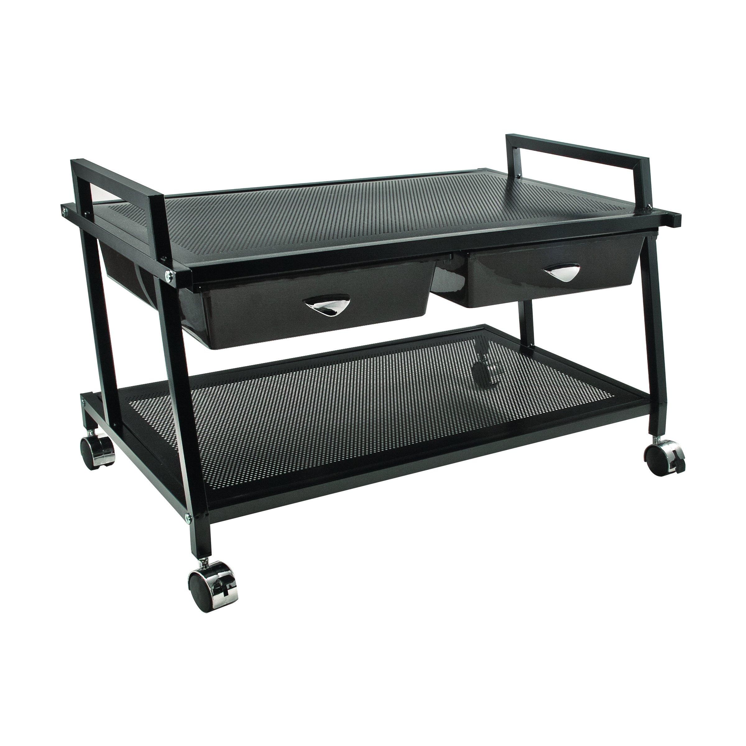 Vertiflex Mobile Underdesk Machine Stand with Supply Drawers, 25 x 15 x 15 Inches, Black (VF95530) by Vertiflex
