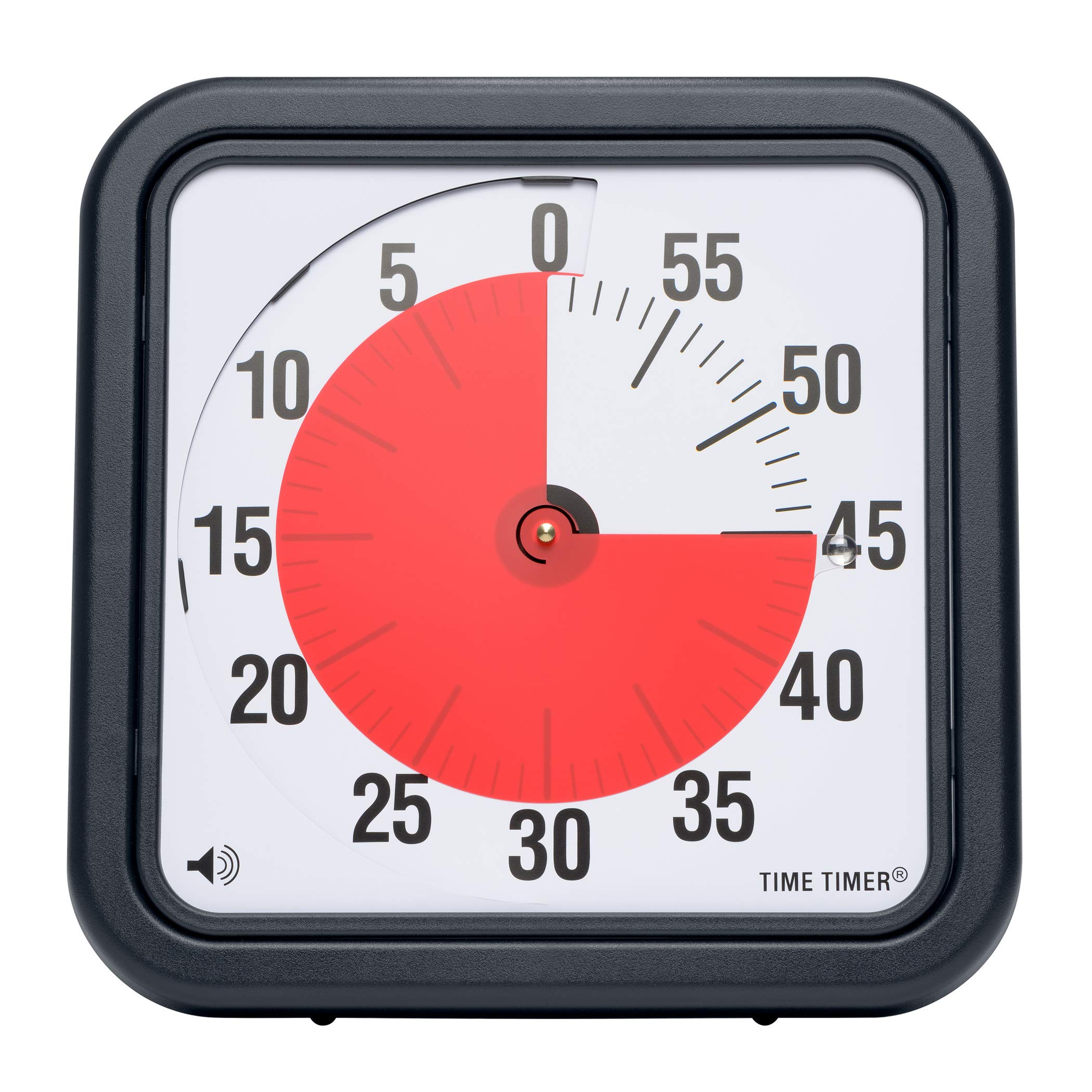 Time Timer Original 12 inch; 60 Minute Visual Timer - Classroom Or Meeting Countdown Clock for Kids and Adults (Black) by Time Timer