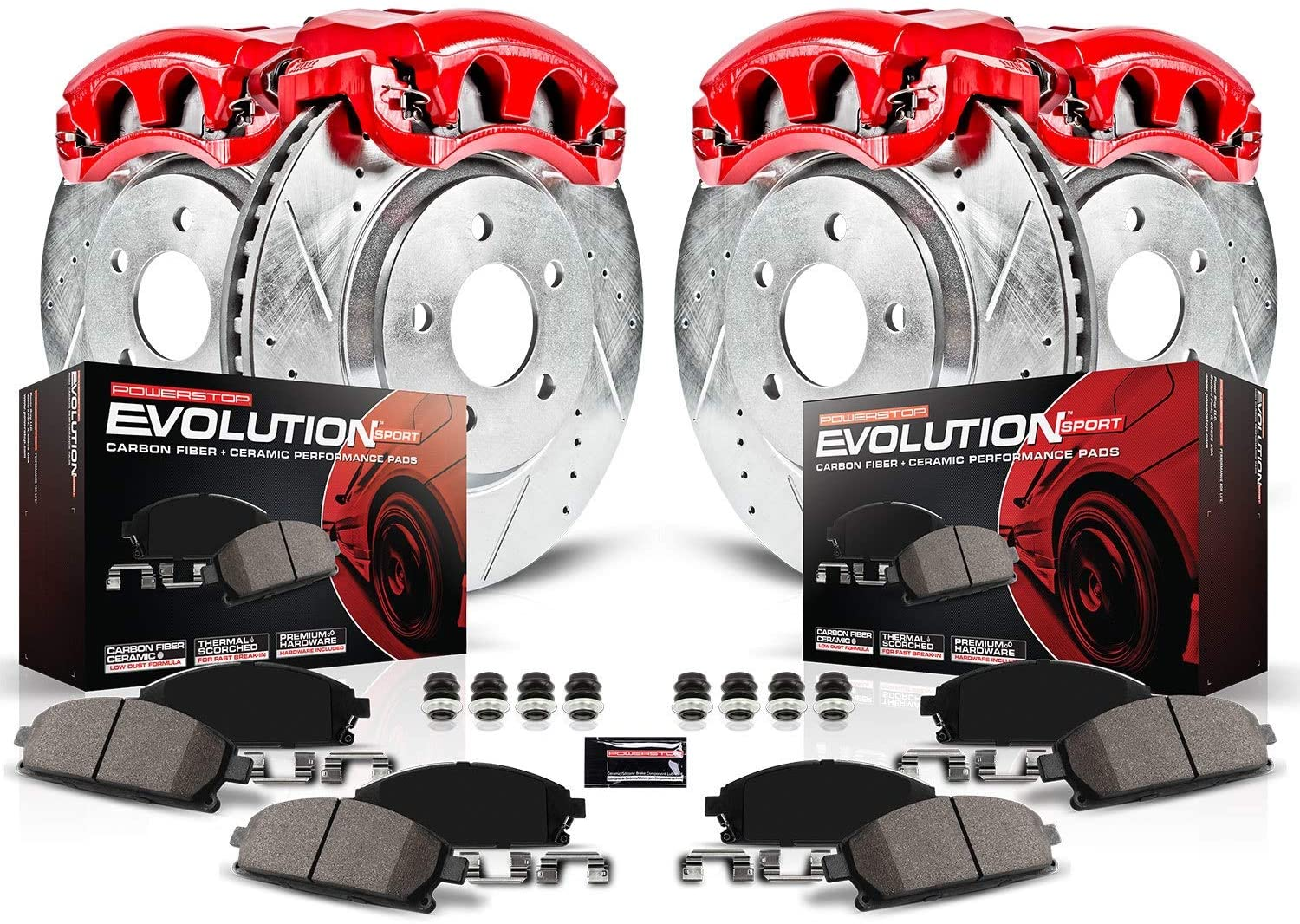Power Stop KC114B Z23 Evolution Sport Brake Kit with Calipers