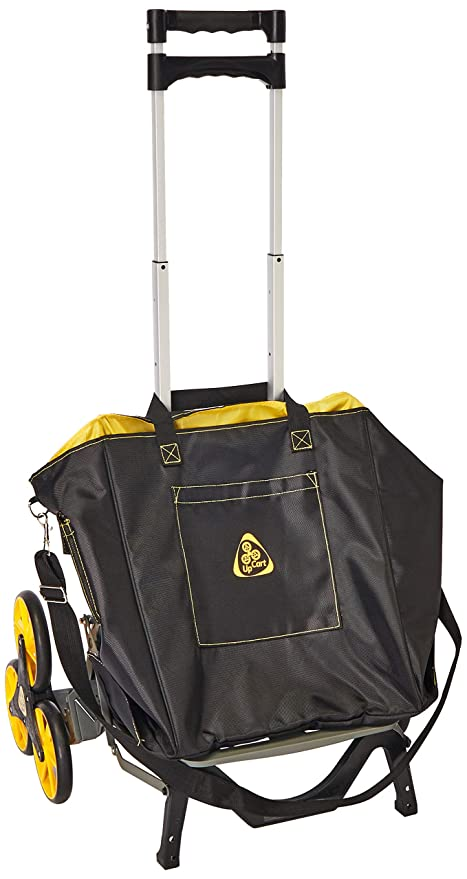 ee16487ac851 UpCart with Bag Bundle All-Terrain Stair Climbing Folding Cart Moves up to  100-pounds