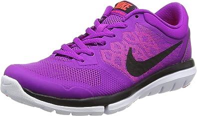 NikeFlex Run 2015 - Zapatillas de Running Mujer, Morado (Violet (Vvd Prpl/Blk-Hat LV-Brght Crmsn)), 37,5: Amazon.es: Zapatos y complementos