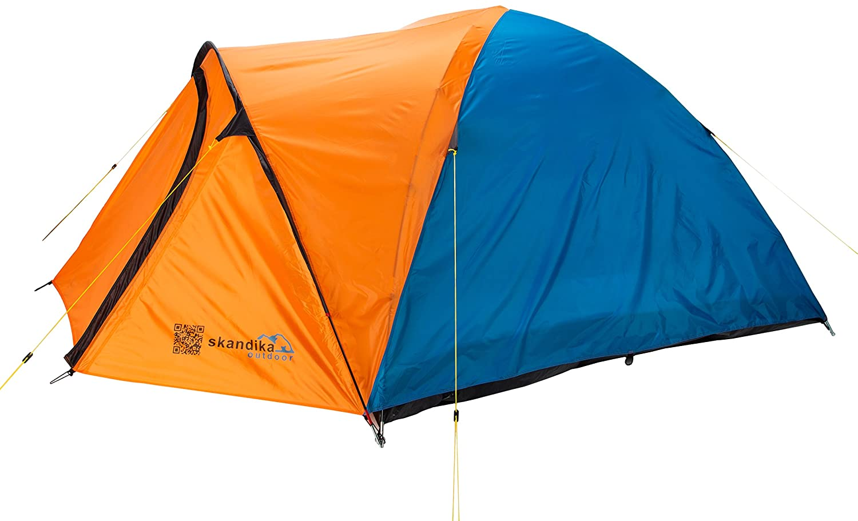 Bleu Orange  Skandika Larvik 3 - Tente de camping dôme igloo 3 personnes