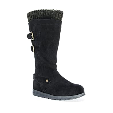 MUK LUKS Women's Nora Fashion Boot, Black, 10 Medium US