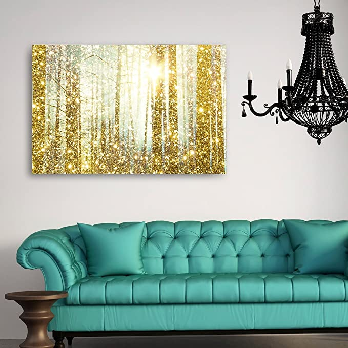 Magical Forest' Contemporary Canvas Wall Art Print