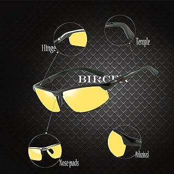 Amazon.com: Gafas de sol para hombre y mujer, visión ...