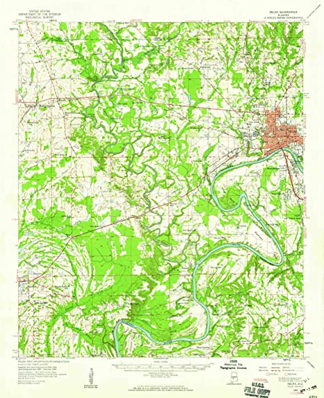 Amazon.com : YellowMaps Selma AL topo map, 1:62500 Scale, 15 X 15 ...