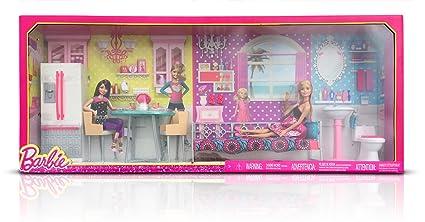 Amazon Com Barbie Dreamhouse Furntiture Giftset Toys Games