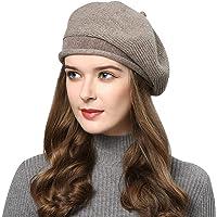 Superora Boinas Mujer Francesa Lana Vintage Sombreros de Mujer Fiesta Invierno Clásico Gorro Sombrero Beret Francés