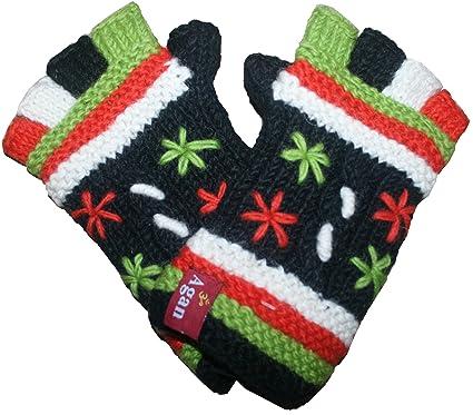b24adc17065 1501 G Agan Traders Wool Women s Fingerless Mitten (Black) at Amazon ...