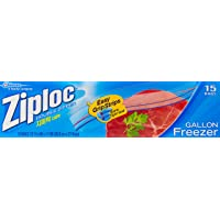 Ziploc Freezer Gallon Bags, 15ct