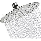 Sooreally Rain Shower Head High Pressure, 8 Inch Stainless Steel Rainfall Showerhead, Resist Fingerprint, Easy Install…
