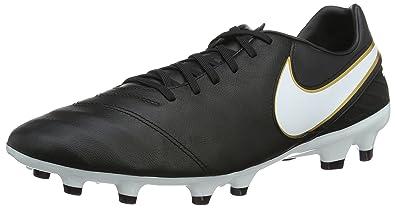 Nike Herren Fußballschuhe Schwarz Schwarz/Orange, Schwarz - Schwarz/Orange - Größe: 44.5 EU