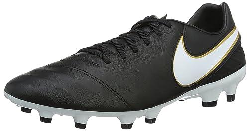 983437457685 Nike Men s Tiempo Mystic V FG Black White Metallic Gold Soccer Cleat 6.5 Men