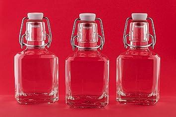 Compra slkfactory 8 x vacío Botellas de Cristal 200 ML con Cierre de Soporte Soporte Swing 0.2 litros 20 Cl Botella de Licor Botellas Tapa basculante 250 ML ...