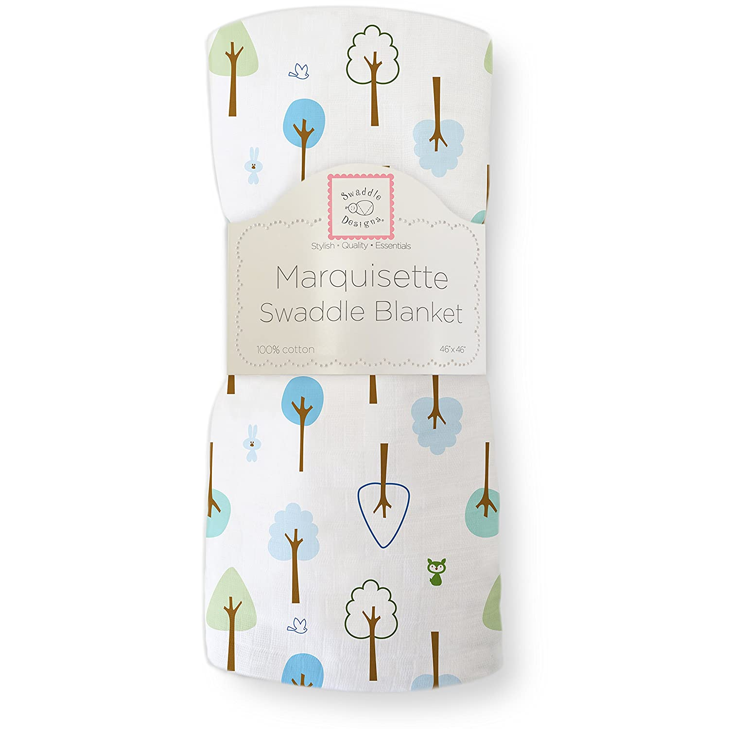 SwaddleDesigns Marquisette Swaddling Blanket, Cute & Calm, Very Berry SD-118VB