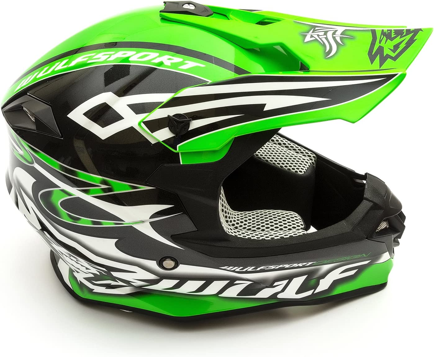 Wulfsport Adult Sceptre Helmet Large White Motocross Pitbike Motorbike Off Road Racing ATV Enduro Helmet