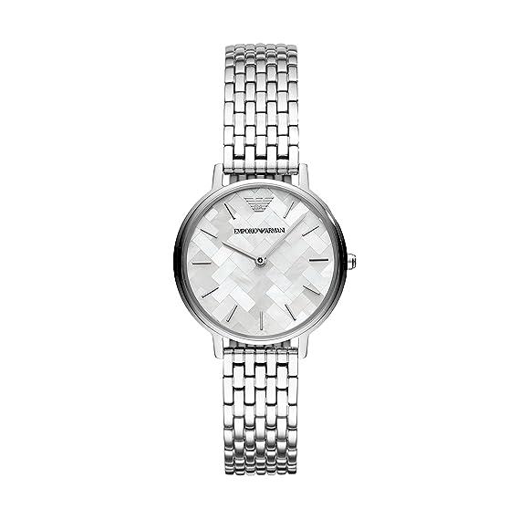 Emporio Armani Reloj Analogico para Mujer de Cuarzo con Correa en Acero Inoxidable AR11112