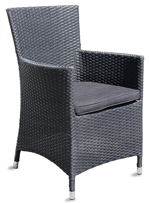 Alta calidad Polirratán silla de jardín ratán silla de ...