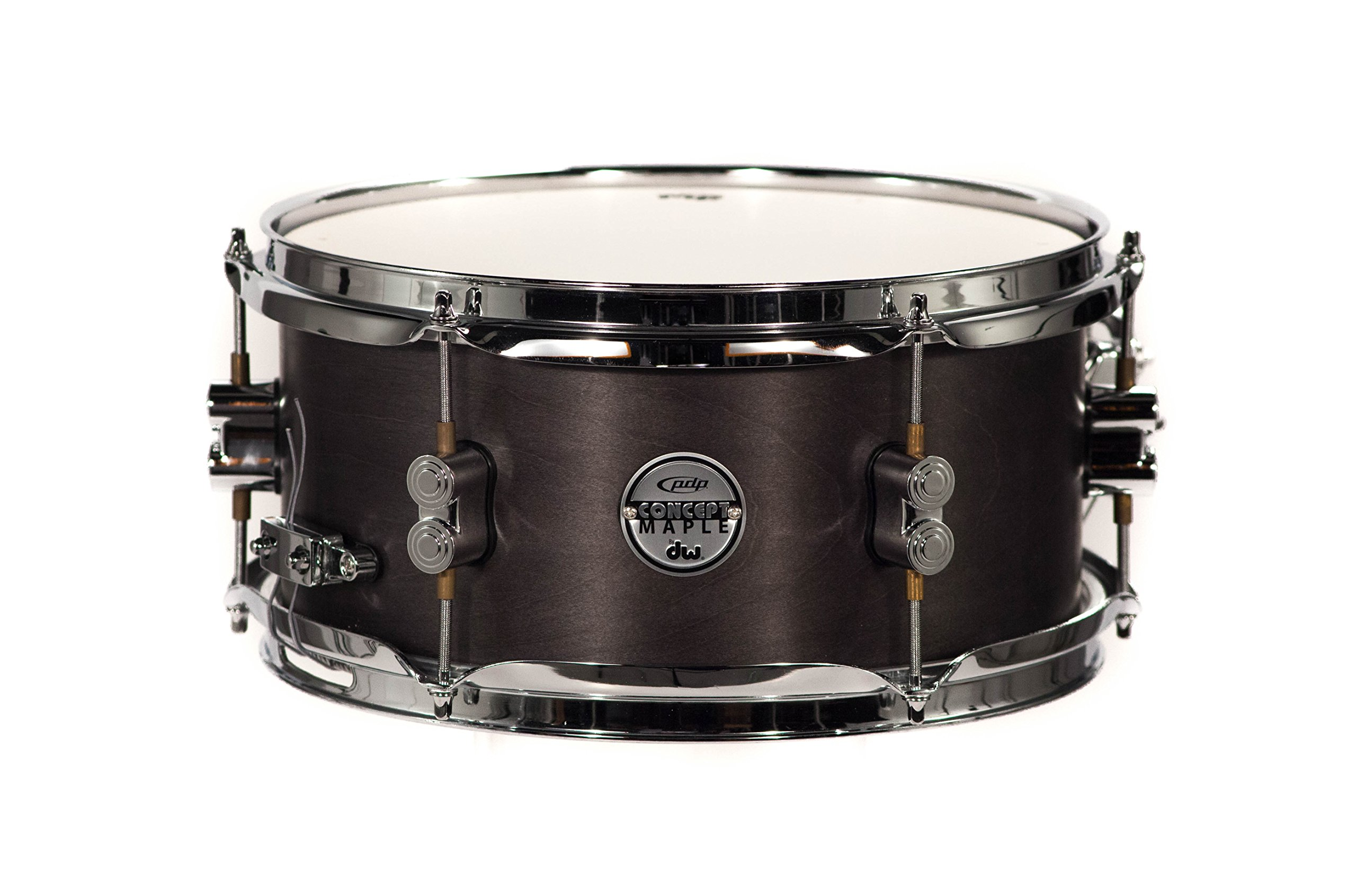 PDP By DW Black Wax Maple Snare Drum 6x12
