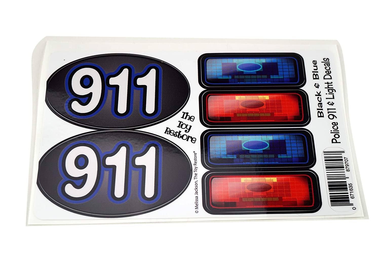Amazon com the toy restore siren light 911 decals stickers police patrol car diy fits little tikes cozy coupe step2 toys games