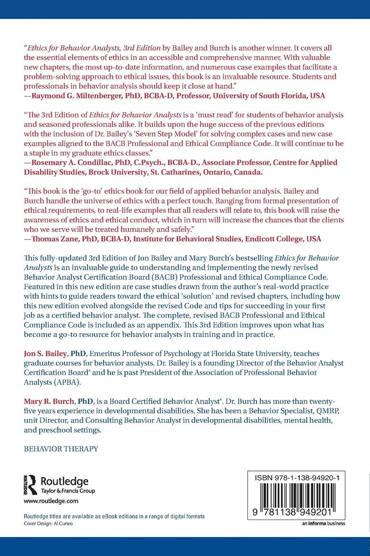 Ethics for behavior analysts 3rd edition amazon jon ethics for behavior analysts 3rd edition amazon jon bailey mary burch 9781138949201 books 1betcityfo Gallery