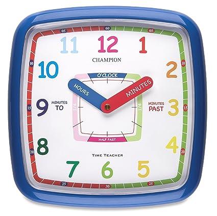Aprender a leer la hora, el cuarto de los niños dormitorio reloj de pared de