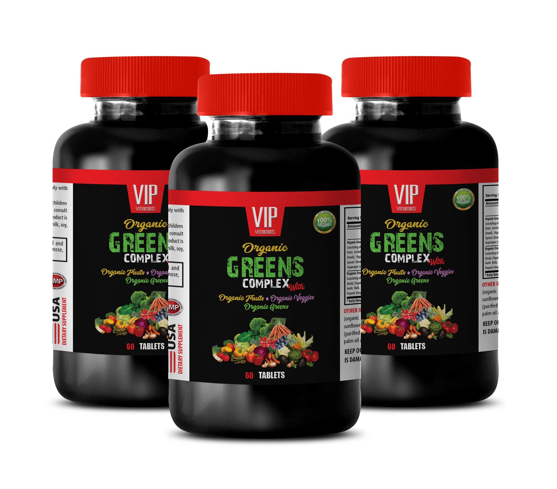 antioxidant Supplement Berry - Organic Greens Complex - Raspberry Pills for Women - 3 Bottles 180 Tablets