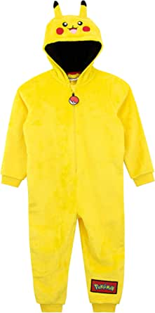Pokemon Pijama Entera para niños Pikachu