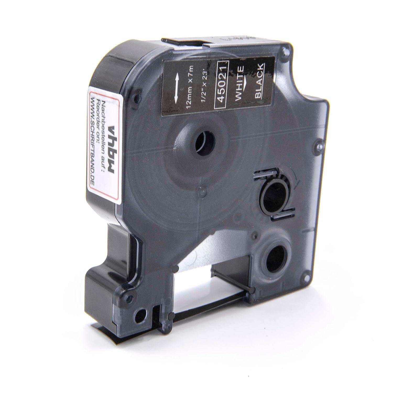 Cassette Cartouche Ruban 12mm vhbw pour Dymo LabelManager 100, 100 Plus, 120P, 200, 300, 350, 350D comme Dymo D1, 45021. VHBW4251004667270