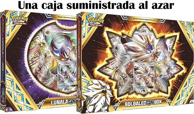 Pokemon JCC Caja Premium Solgaleo/Lunala GX - Español: Amazon.es: Juguetes y juegos
