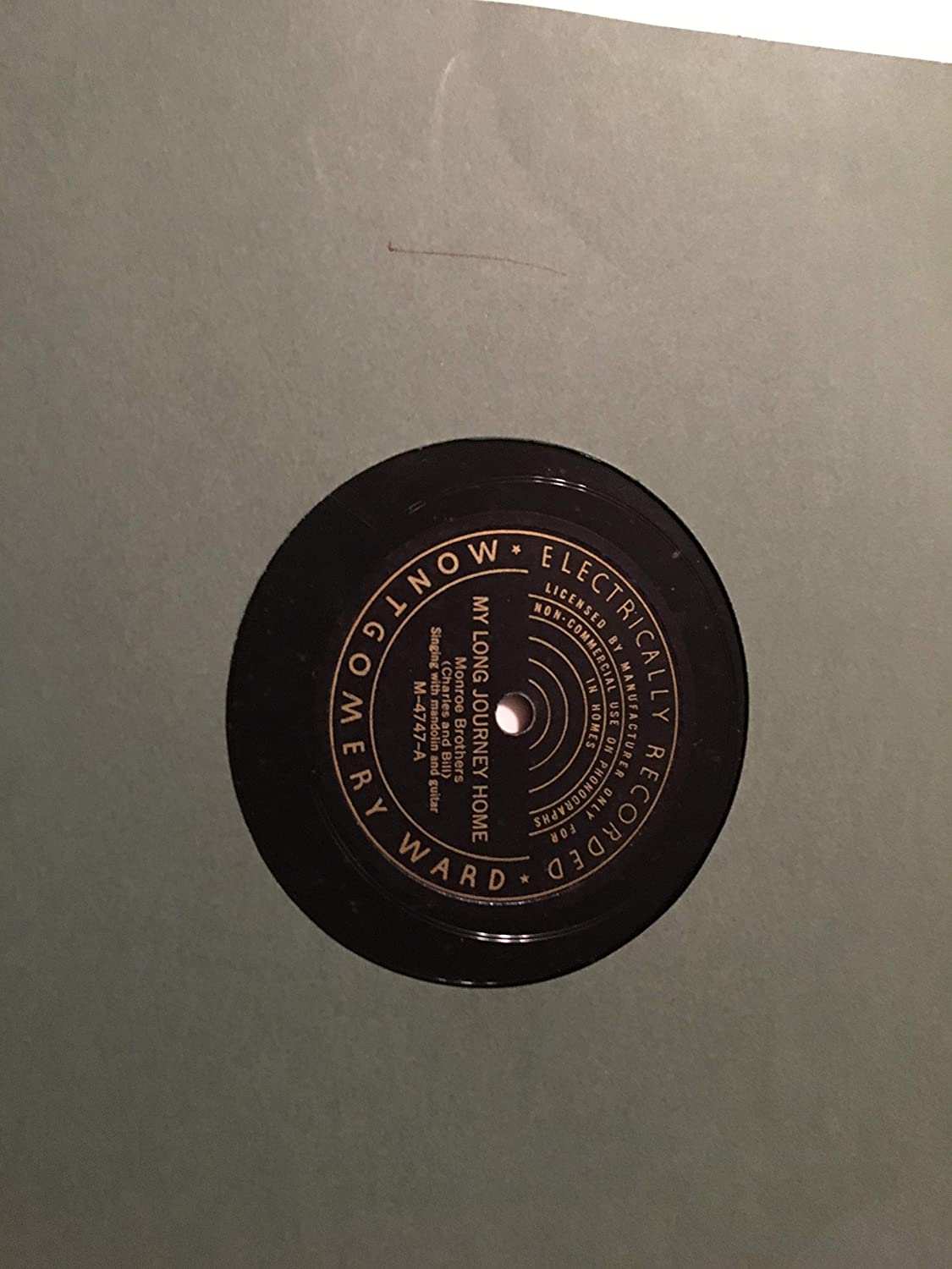 NINE POND HAMMER IS TOO HEAVY-MY LONG JOURNEY HOME 78 RPM RECORD