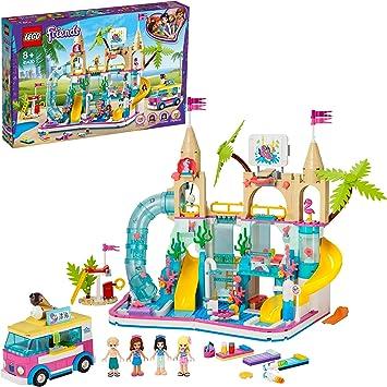 LEGO 41430 Friends Parque Acuático Summer Fun Playset Parque de Atracciones Juguete de Construcción con Mini Muñecas