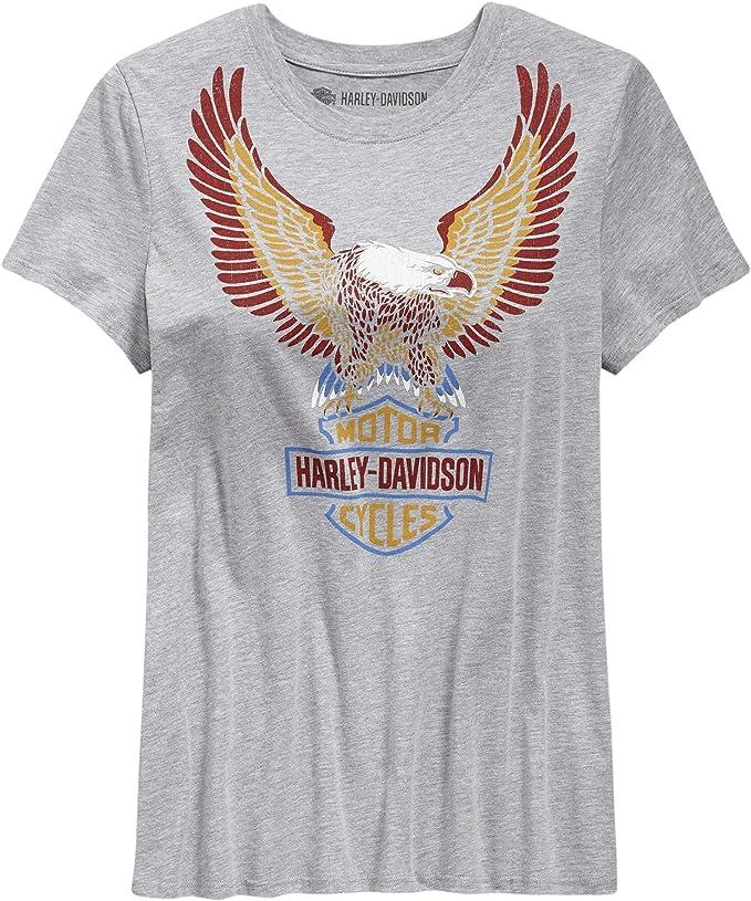 Harley-Davidson Official - Camiseta de manga corta para mujer, color gris - Gris - Medium: Amazon.es: Ropa y accesorios